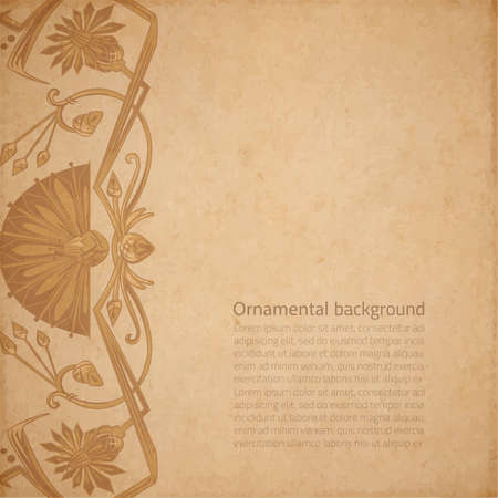 parchment paper: Vector illustration of scrapbooking parchment paper with egypt ornament