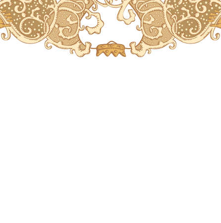 artnouveau: Vintage vector wedding stationery background with medieval ornament, heart and Cluddah irish hands