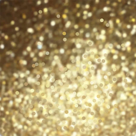 Vector golden glitter background template for cards, backdrops, invitations and posters. Illustration