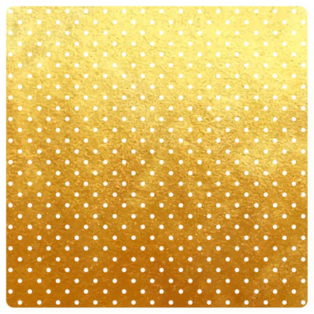 Vector vintage dotted background with realistic golden paper effect, framed template for cards and stationery. Illustration