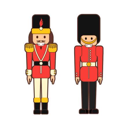 フラットくるみ割り人形兵士。