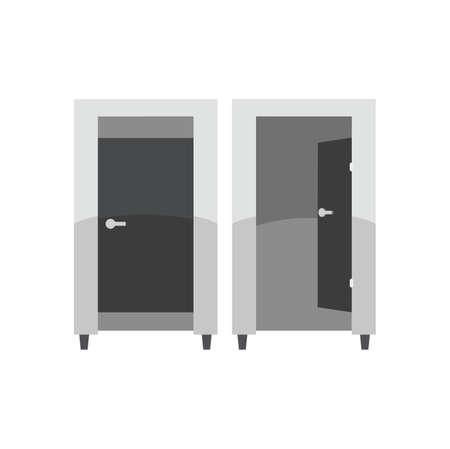 checkroom: Moving cabinet illustration.