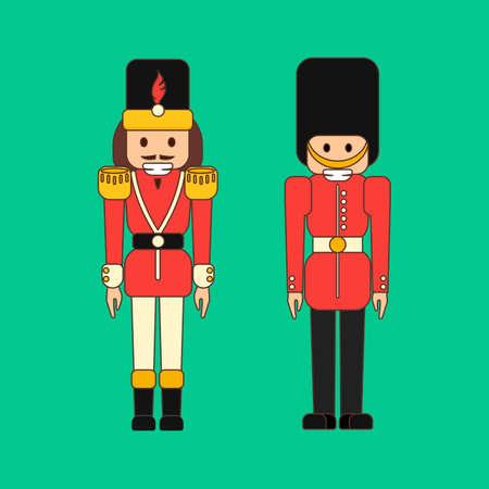 Christmas nutcracker illustration.