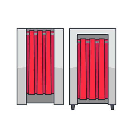 Fitting room illustration.