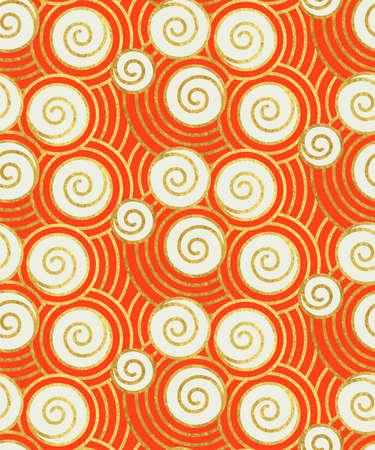 Illustration of oriental ancient pattern.