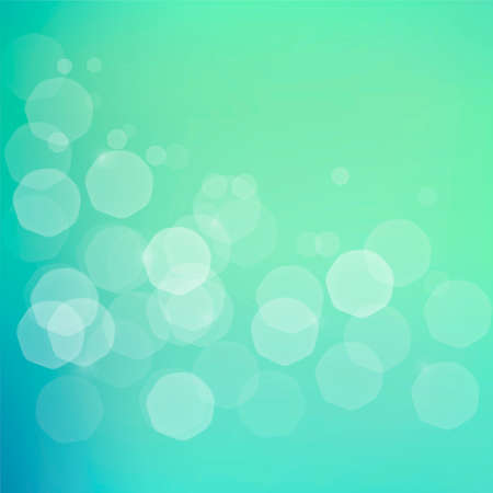 Abstract background with subtle jentle glowing  bokeh - shiny particles on blue green bright background