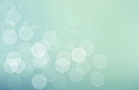 Abstract background with subtle jentle glowing  bokeh - shiny particles on blue green muted background