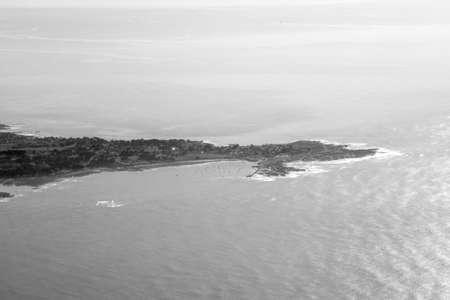 marsh and Atlantic ocean views Stock Photo