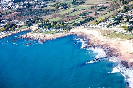 atlantic coast beach and aerial view