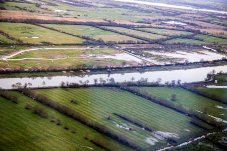 Arial Loire view, marsh, aerial view Stock Photo