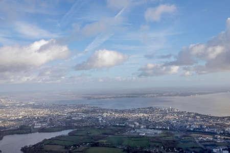 atlantic marsh aerial view