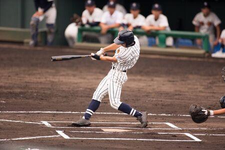 Scenery of a Japanese high school baseball game Stockfoto