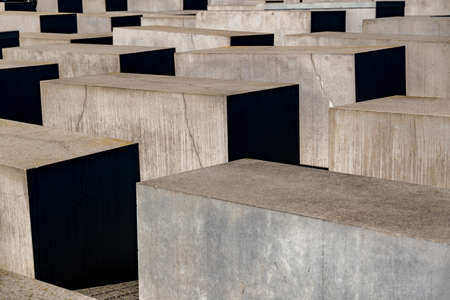 The Holocaust monument in Berlin at daylight