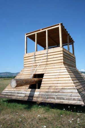 siege: siege tower Stock Photo