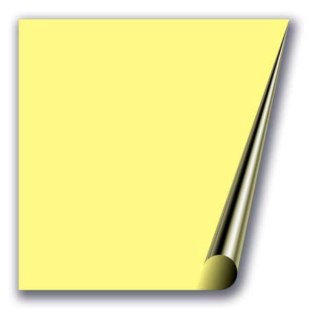 folio: yellow blank paper Stock Photo