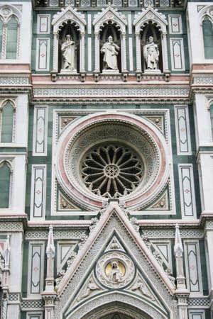 Detail of facade of Duomo Santa Maria del Fiore, Florence, Italy photo