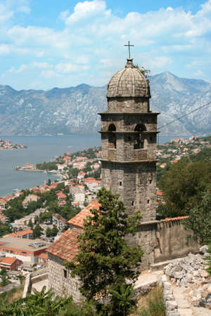 Historic town of Kotor in Montenegro photo