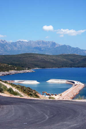 Lustica, Montenegro  July 29, 2015: The development of the Lustica Bay town and its community. Editorial