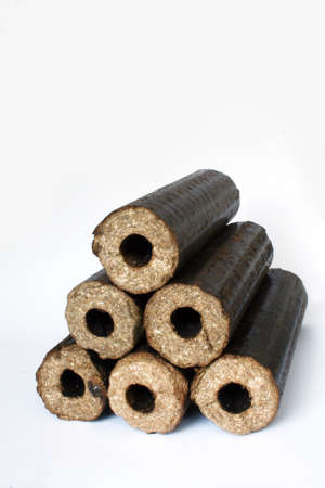optimized: Biomass compressed briquettes optimized for multi fuel stoves