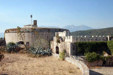 Fort Mamula on an uninhabited islet in the Adriatic Sea, Montenegro Stock Photo