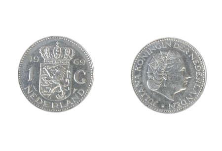 1 Gulden coin, Netherlands, 1969 Stock Photo