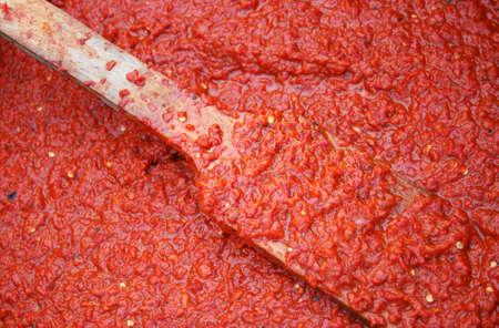 Process of ajvar homemaking in Serbia