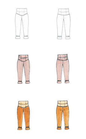 Illustration for fashion designers with a variety of approaches