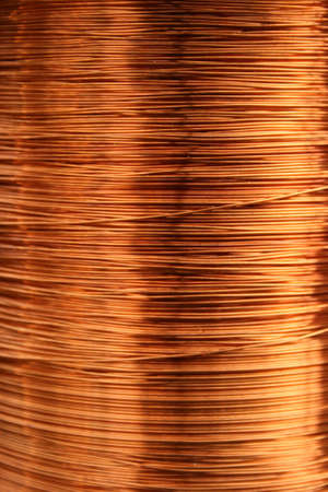 Copper wire scrap metal for recycling or reproducing in the melting foundry. Bright copper raw material.