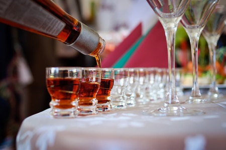 Glasses with alcohol in bar Stock Photo - 10816540