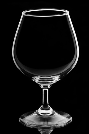 Wine glass on black background Stock Photo - 12668130