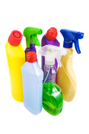 Antibacterial: Sanitary bottle set on white background