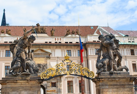 Group Sculptures by the gate of Prague castle, Czech Stock Photo - 14406272