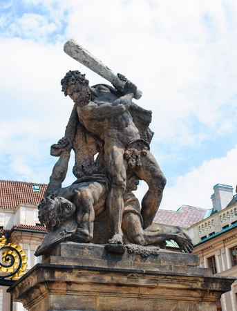 Sculpture by the gate of Prague castle Stock Photo - 14404707