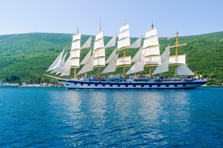 Luxury yacht in Adriatic sea, Montenegro