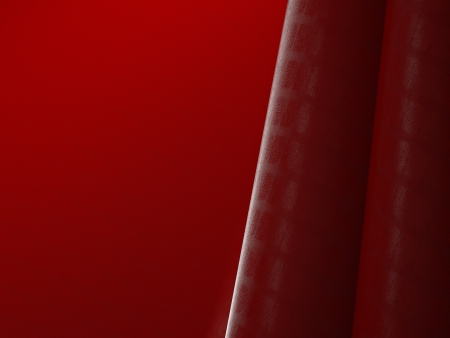 Red crocodile leather abstract background 3d render photo