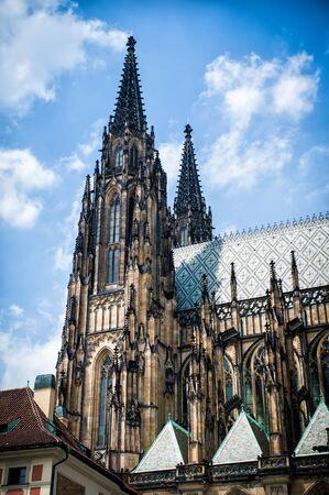 vitus: Saint Vitus Cathedral, facade, Prague