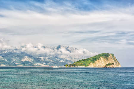 Adriatic landscape - sea and mountain, Montenegro, Budva photo