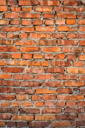 Old red bricks texture