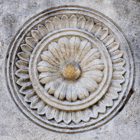 carved stone: carved stone pattern