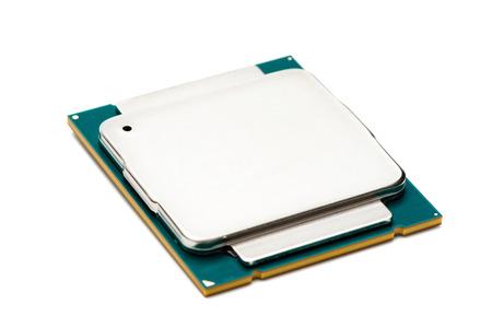 Computer processor CPU on white background