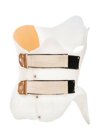 Corset Chenot. The correction device for the treatment of scoliosis. Isolated on white background.