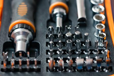 Pocket precision screwdriver set in box
