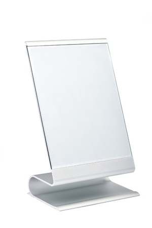 Modern makeup mirror isolated on white background