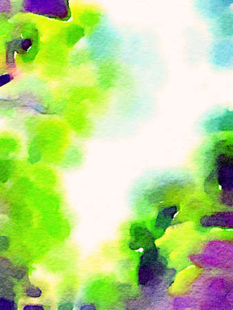 Colorful watercolor hand-painted art illustration : abstract art background (High-resolution 2D CG illustration)
