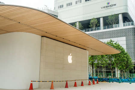 Taipei, Taiwan - June 6, 2019: Taiwans second Apple Store ? Apple Xinyi A13 ? in new Far Eastern Department Store, Xinyi district of Taipei. Editorial
