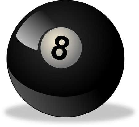 black billiard ball number 8