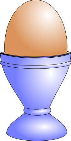 Egg-holder with egg Illustration