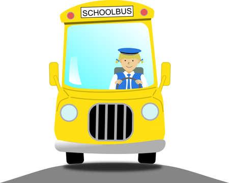 chauffeur: female school bus driver