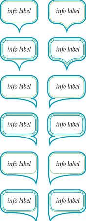 information tag board info label Illustration