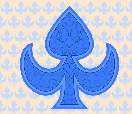 French blue royal aces background texture ornaments Illustration